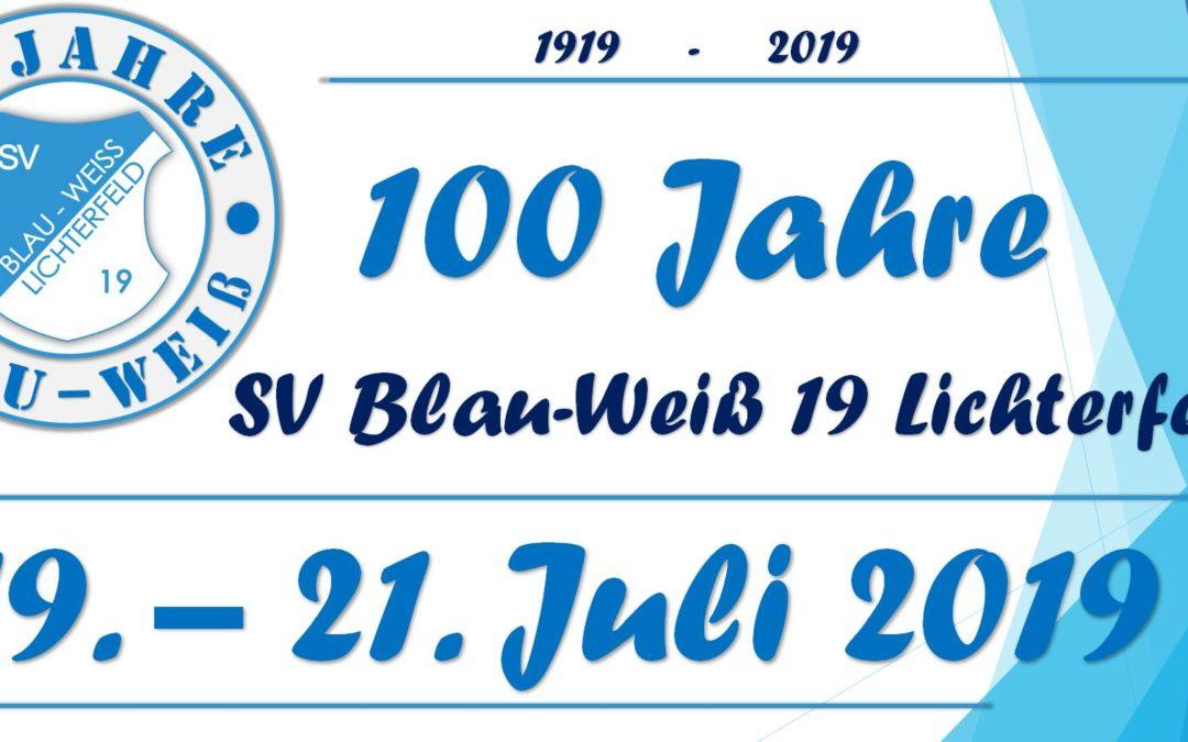 100 Jahre SV Blau-Weiß 19 Lichterfeld